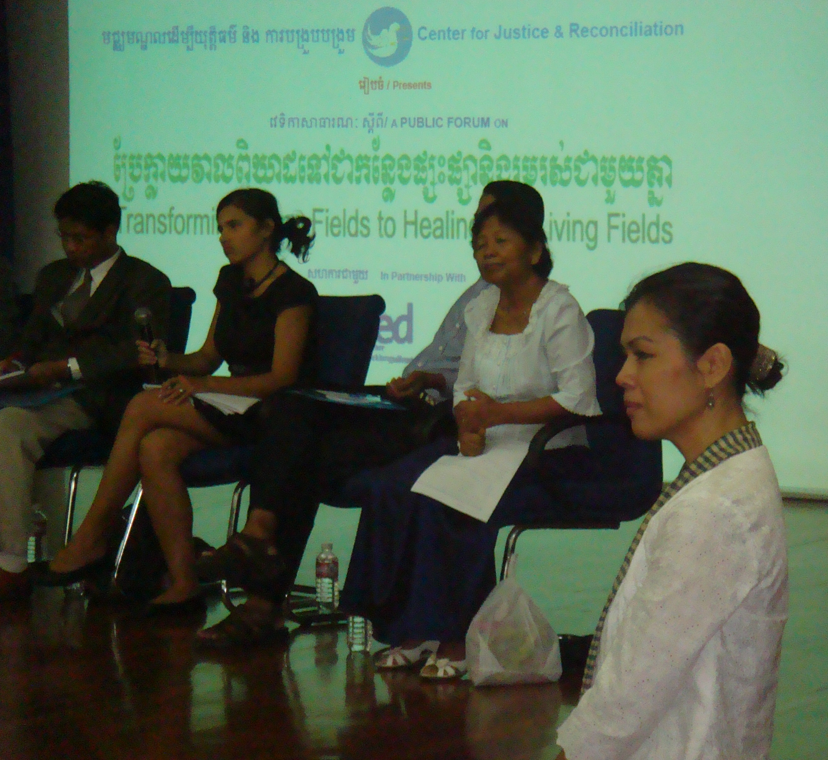 Theary Seng moderating the Transforming Killing Fields to Healing, Living Fields - Advent of Duch Verdict, 23 July 2010