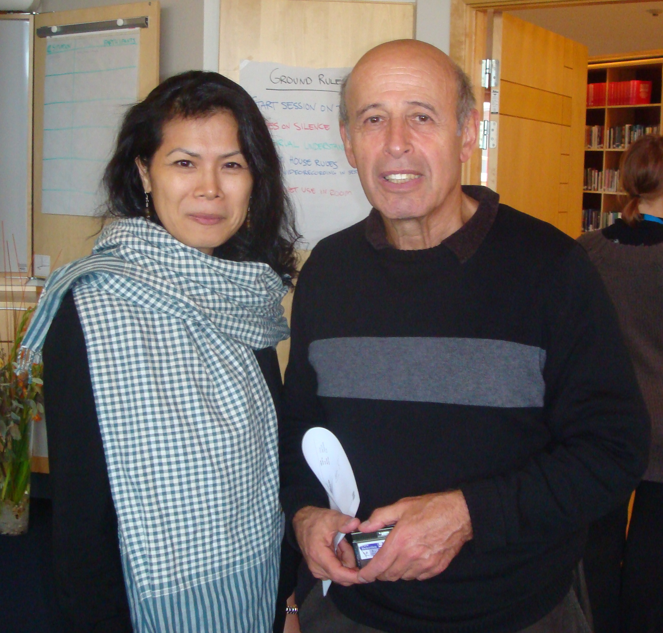 Theary Seng and Ervin Staub, Sando, Sweden Oct. 2010