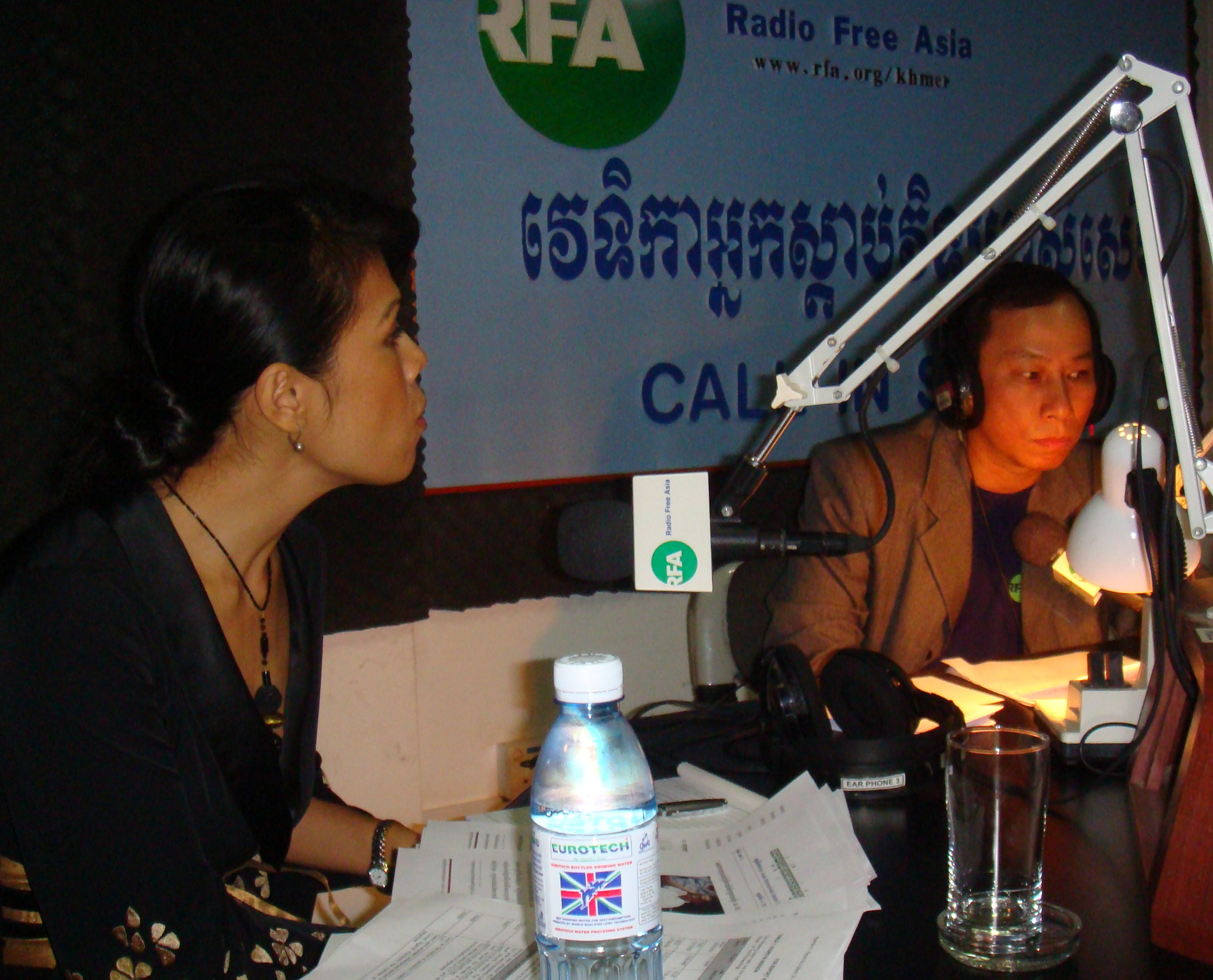 Theary Seng at Radio Free Asia RFA