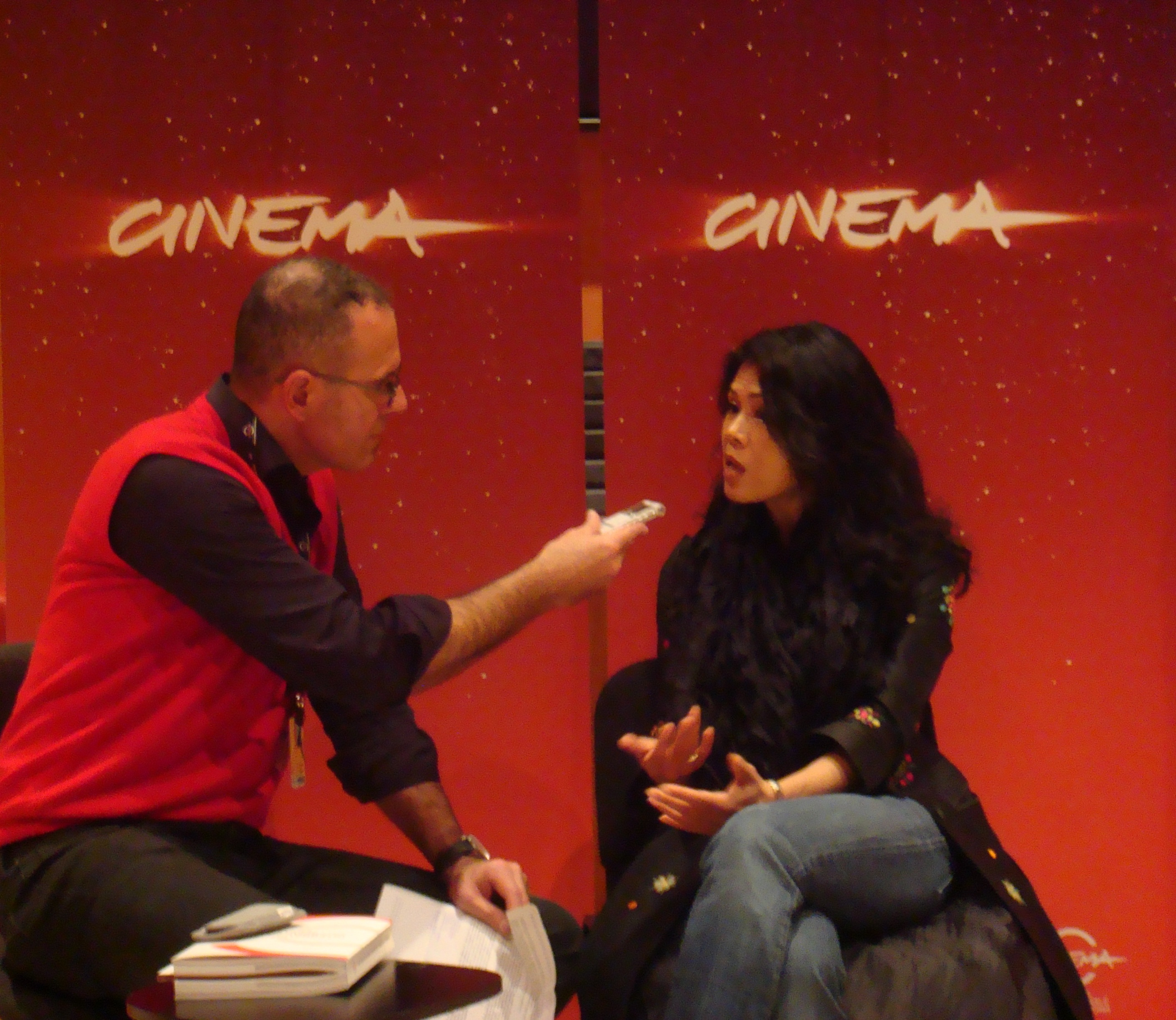 Theary Seng interview at International Rome Film Festival, 2 Nov. 2010