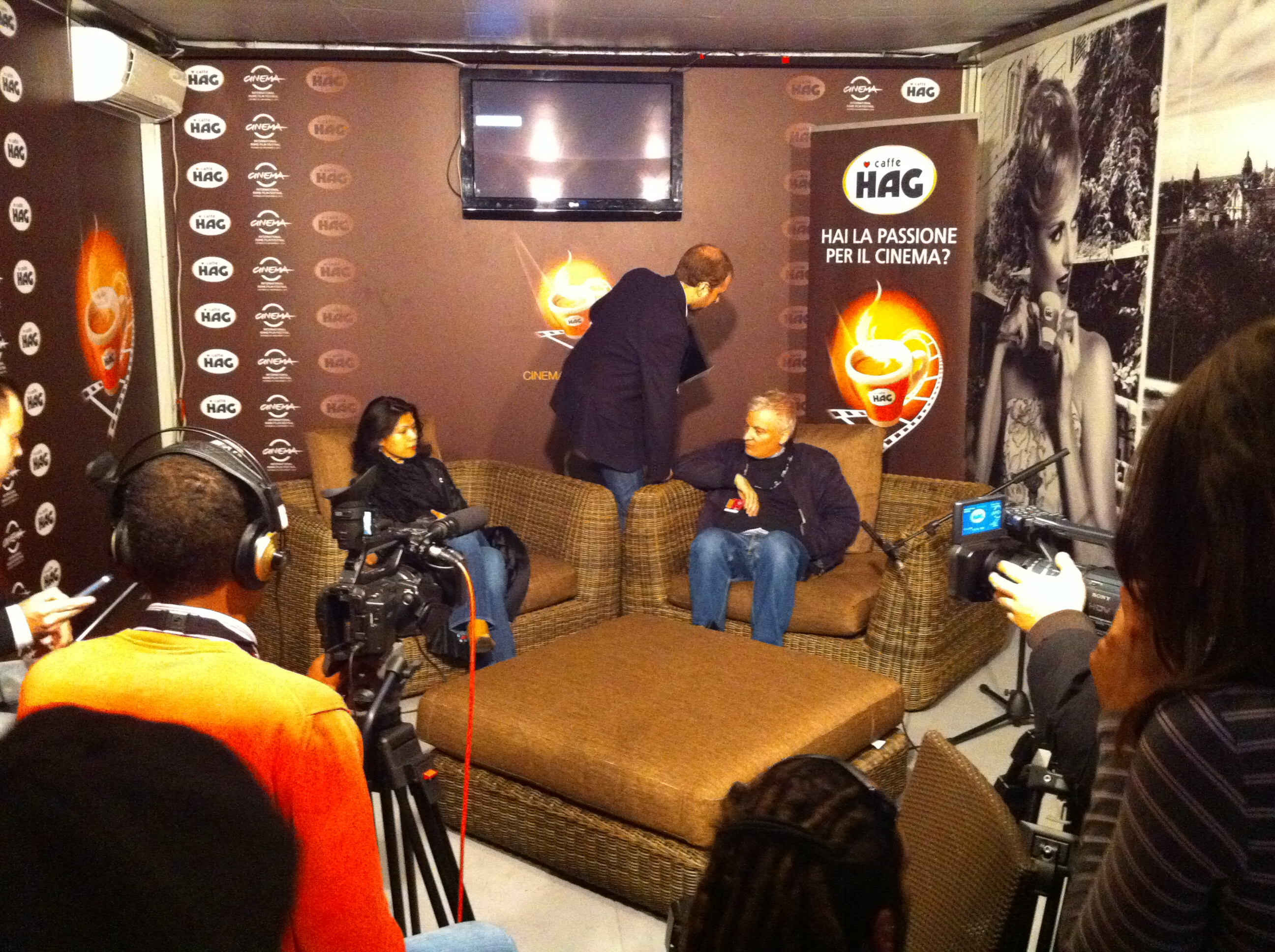 TV interviews of David Aronowitsch, Theary Seng (International Rome Film Festival, 2 Nov. 2010)
