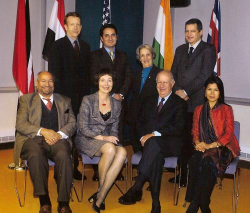 Theary Seng with former president of Chile Lagos (IDRC democracy conference in Canada, 2007)