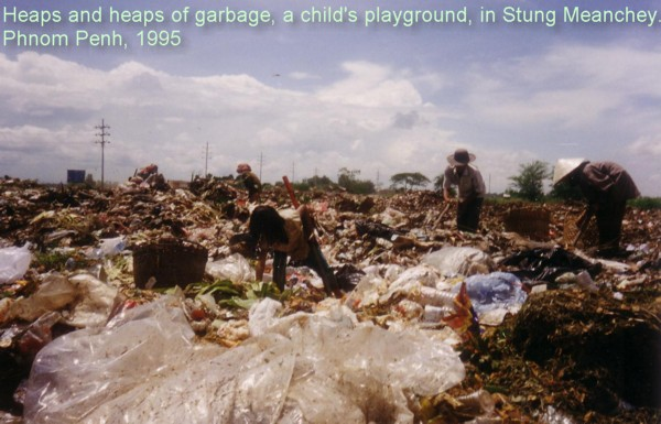 Theary Seng at Stung Meanchey garbage dump 1995
