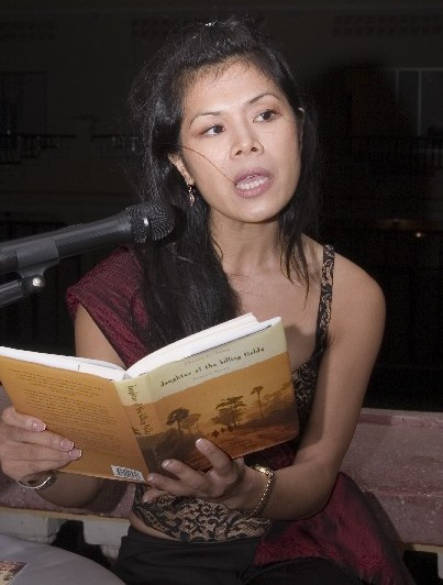 Theary Seng at Phnom Penh launch of Memoir Daughter of Killing Fields
